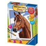 Peinture au numro Classic : Portrait de cheval Version allemande