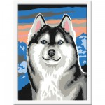 Peinture au numro : Numro d'Art Petit format : Fier Husky