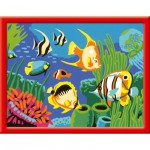 Peinture au numro : Numro d'Art Petit format : Poissons multicolores