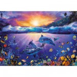 Puzzle 1000 pices : Crpuscule paradisiaque