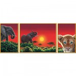 Puzzle 1000 pices - Triptyque Schimmel : Le coeur de l'Afrique