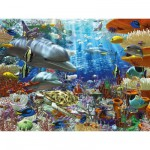 Puzzle 1500 pices : Vie sous-marine