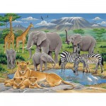 Puzzle 200 pices - Animaux d'Afrique