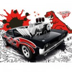 Puzzle 200 pices XXL - Hot Wheels