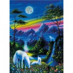 Puzzle 200 pices XXL : Licornes au clair de lune