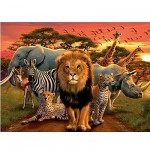 Puzzle 500 pices - Safari africain