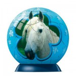 Puzzle ball 60 pices - Cheval : Cheval blanc