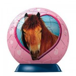 Puzzle ball 60 pices - Cheval : Cheval marron coeur