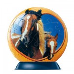 Puzzle ball 60 pices - Cheval : Paint Horse
