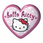 Puzzle ball 60 pices coeur - Hello Kitty