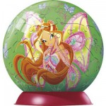 Puzzle ball 60 pices - Winx : Flora papillon