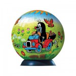 Puzzle Ball 96 pices - Taupinet en voiture