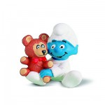 Figurine Schtroumpf: Bb avec l'ours Teddy