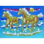 Kit paillettes Art Sequin et perles : Chevaux sauvages
