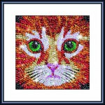 Kit paillettes Art Sequin et perles : Zoom chaton