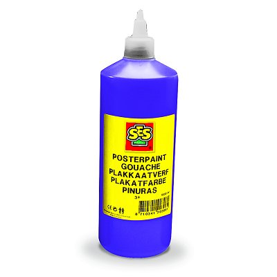 Peinture Gouache Flacon 1 L : Violet