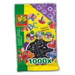Sachet de 1000 perles Technique  repasser : Noir