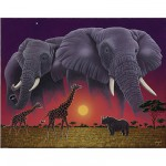 Puzzle 1000 pices - Schimmel : Animaux d'Afrique