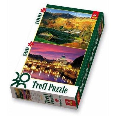 Piece Puzzles on Puzzle 1000 Pi  Ces   500 Pi  Ces   Cumbria Et Rome   Rue Des Puzzles