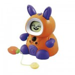 Lapin interactif Kidiminiz Mes p'tits copains : Fripouille orange