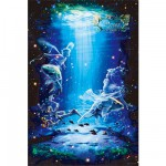 Puzzle 1000 pices phosphorescent - Signe du Zodiaque de Kagaya : Poissons