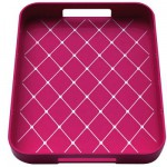 Plateau gallery rectangulaire - Framboise : 32.5 x 26 cm