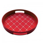 Plateau gallery rond - Rouge : 30 cm